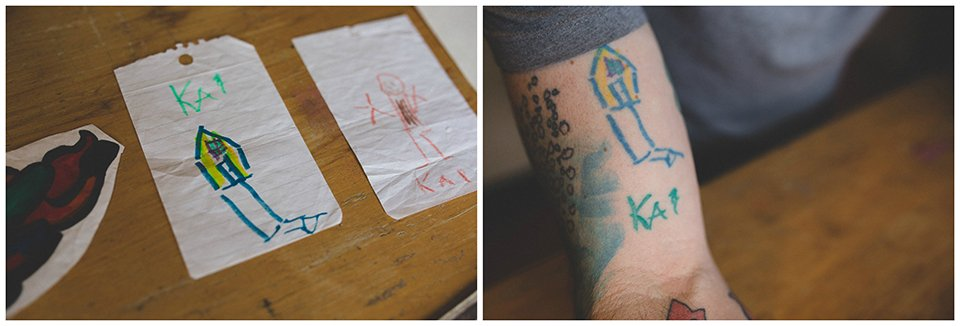 Son's Doodles, Dad's Tattoos