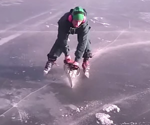 Chainsaw Ice Skating