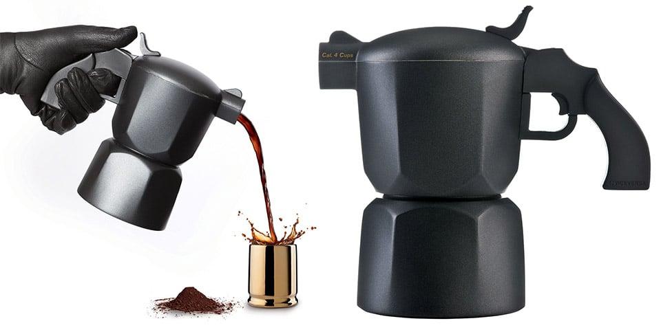Noir Coffee Maker & Espresso Cups