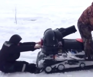 Dumb Guy, Hungry Snowmobile