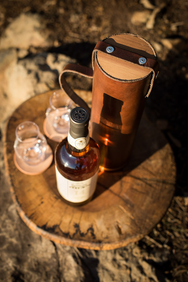 Leather Whiskey Case