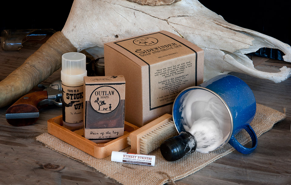 Sidewinder Whiskey Soap & Shave Set
