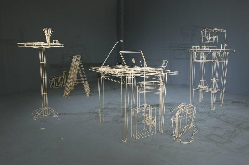 Wooden Wireframe Sculptures