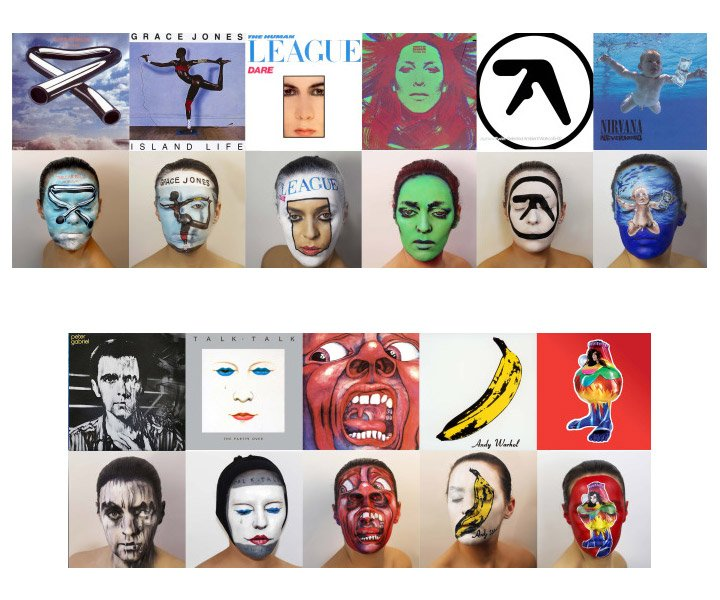 Album Cover Face Painting