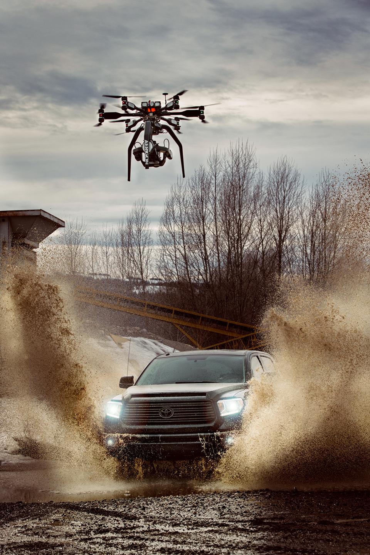 Drone-mounted Phantom Flex 4K