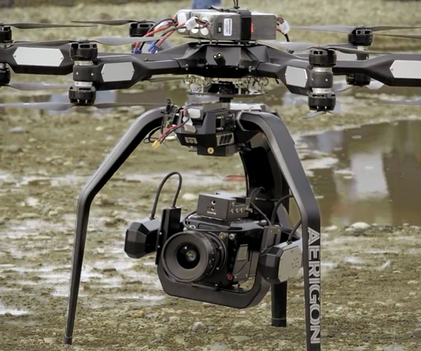 Drone-mounted Phantom Flex 4K