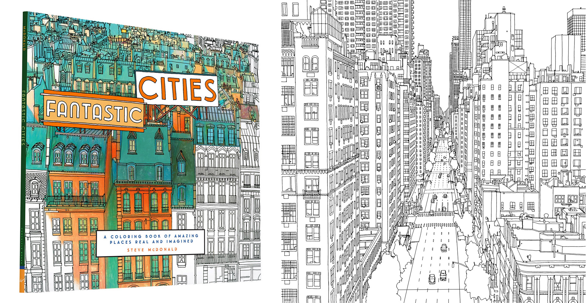 Real And Imagined Fantastic Cities Coloring Book