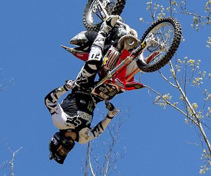 FMX Triple Backflip