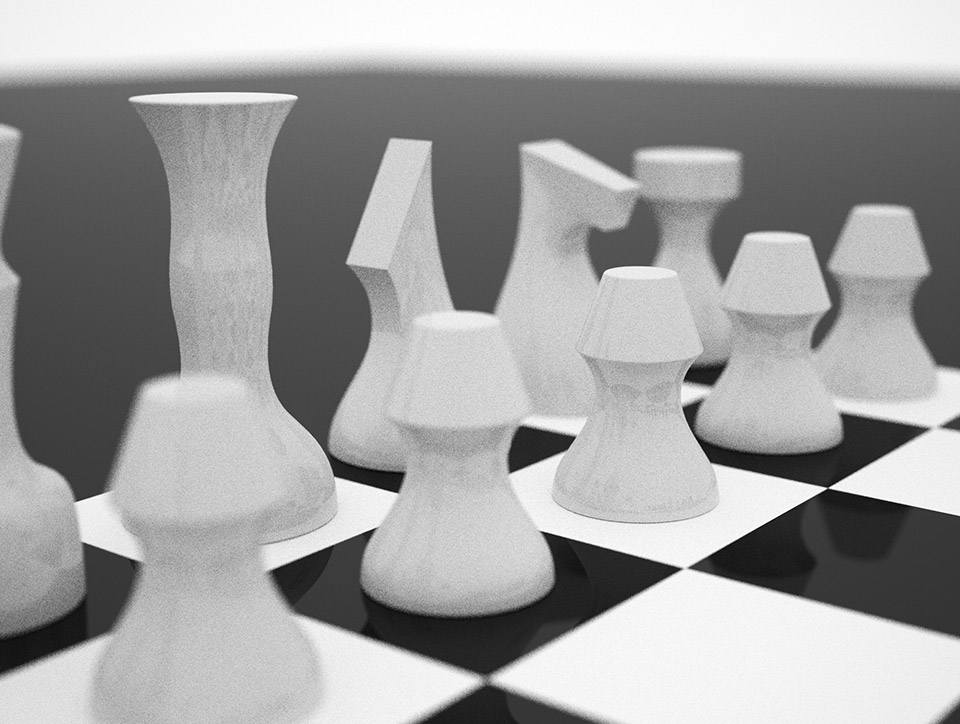 Cursive Chess Set