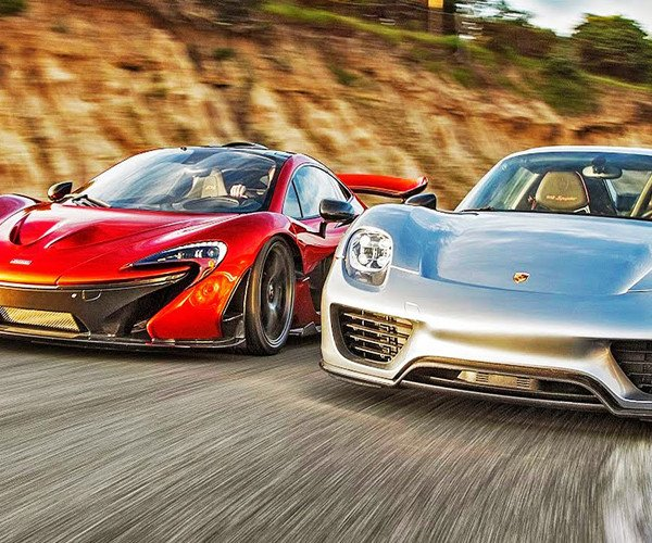 mclaren p1 vs porsche 918 spyder. Black Bedroom Furniture Sets. Home Design Ideas