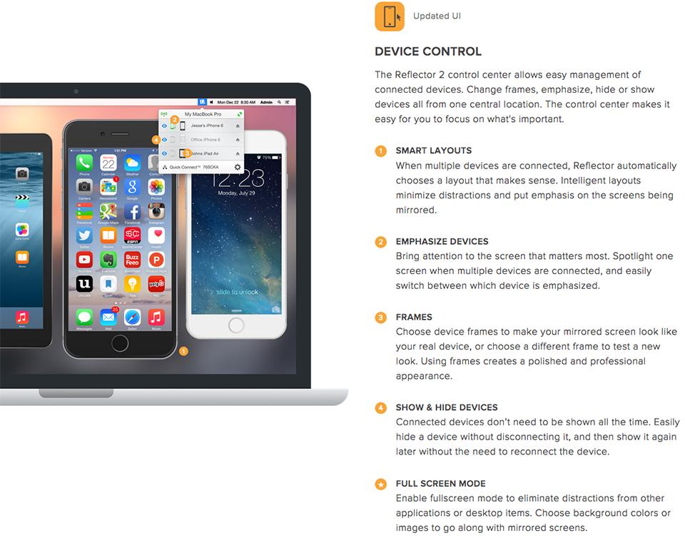 Reflector 2 Mirroring App