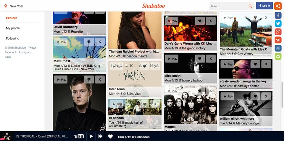Shubaloo Concert Directory