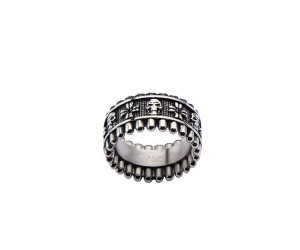 Skulls and Bullets Ring