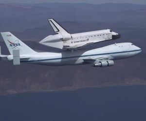 Space Shuttle Endeavour over LA
