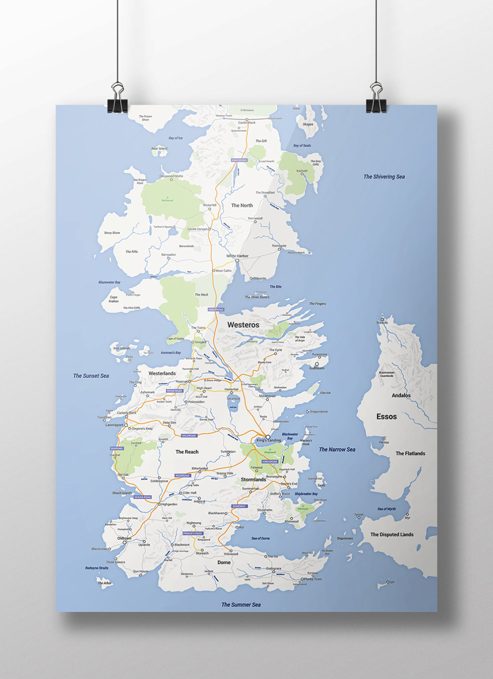 Game of Thrones Modern Map
