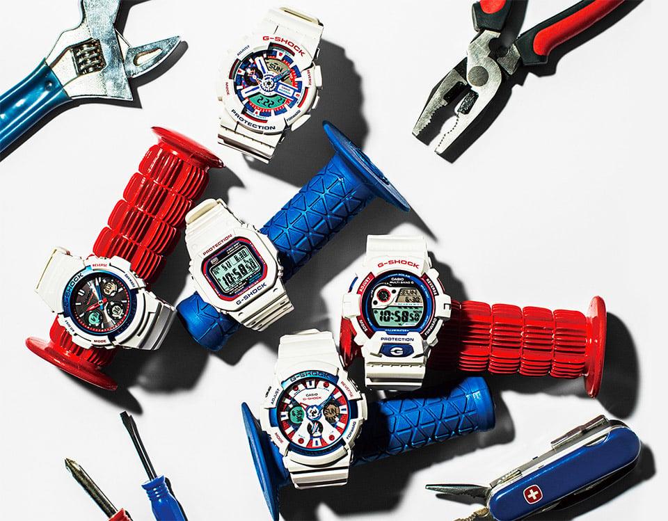 G-Shock White Tricolor Series