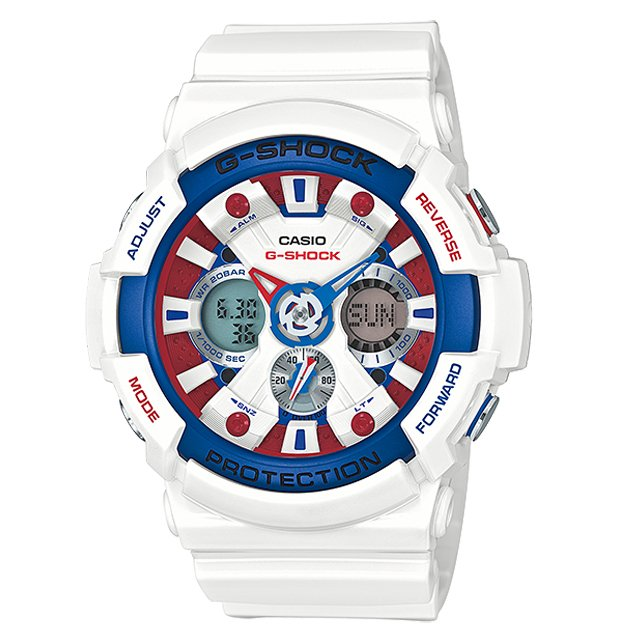G-Shock White Tricolor Series