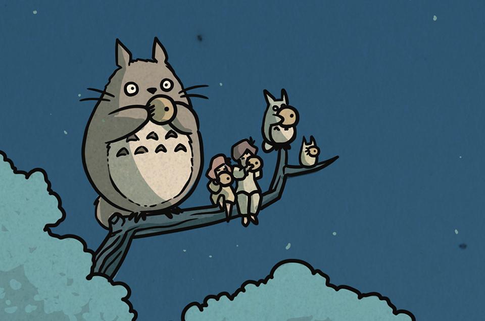 Miyazaki x Hasui Prints