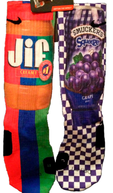 Peanut Butter & Jelly Socks
