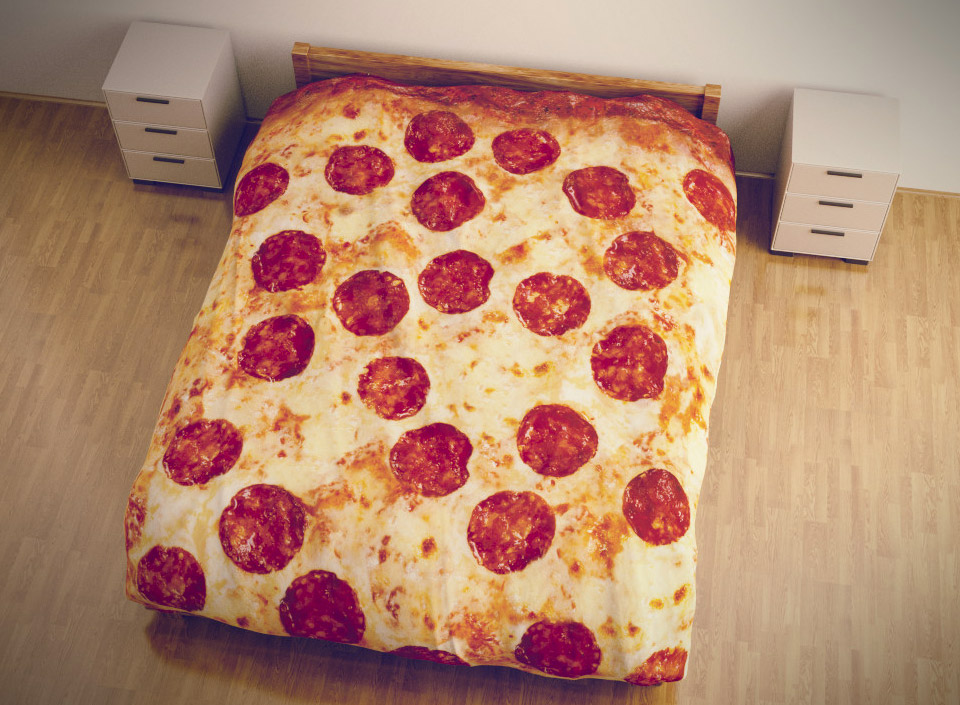 Pizza & Hamburger Bedding