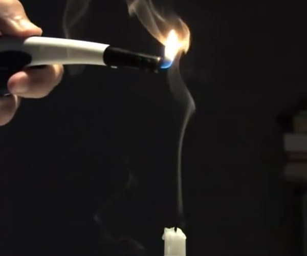 Lighting Candle Smoke