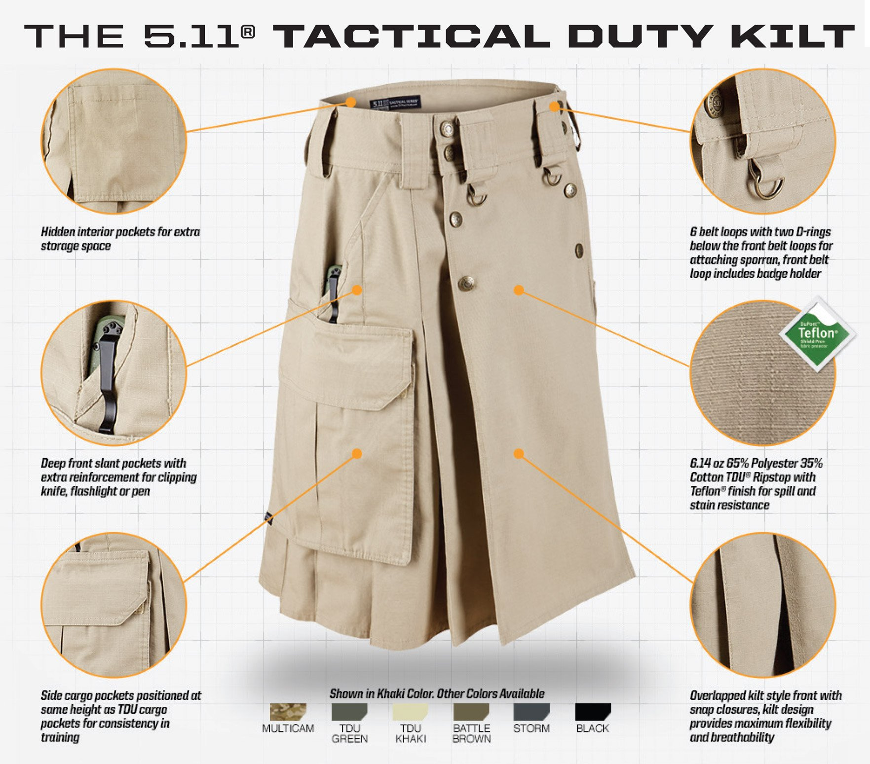 5-11 Tactical Duty Kilt
