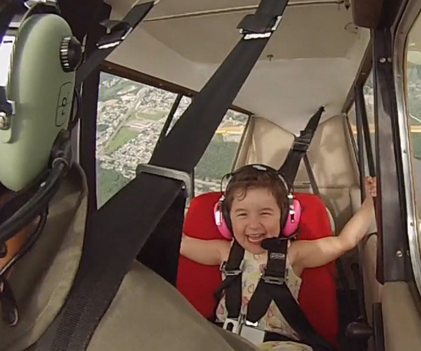 Her First Aerobatic Flight