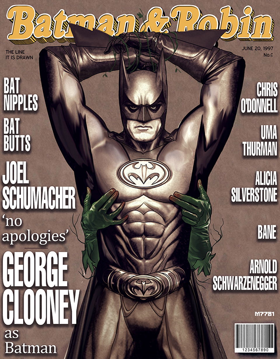 Batman & Robin Rolling Stone Parody