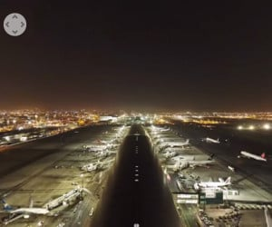 360º 8K Dubai Airport Video
