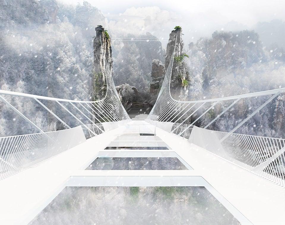 Glass-Bottomed Bridge