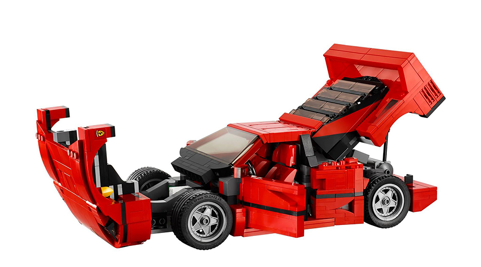 lego ferrari f40 the awesomer. Black Bedroom Furniture Sets. Home Design Ideas