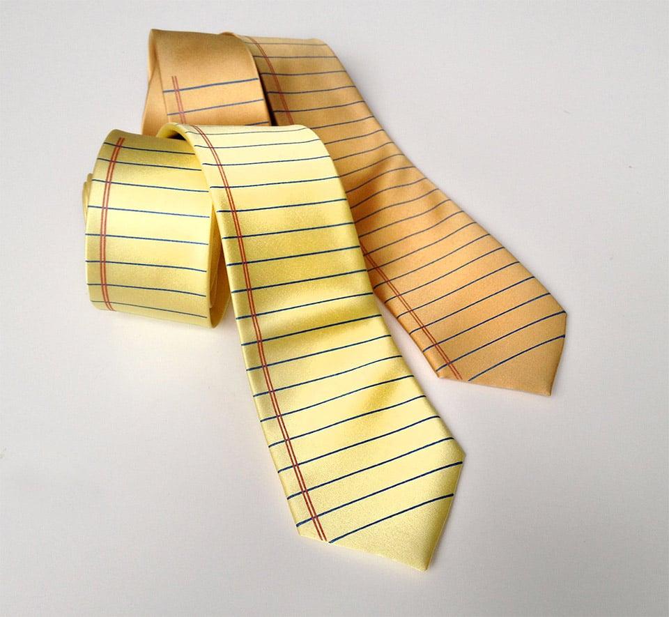 Notebook Paper Tie