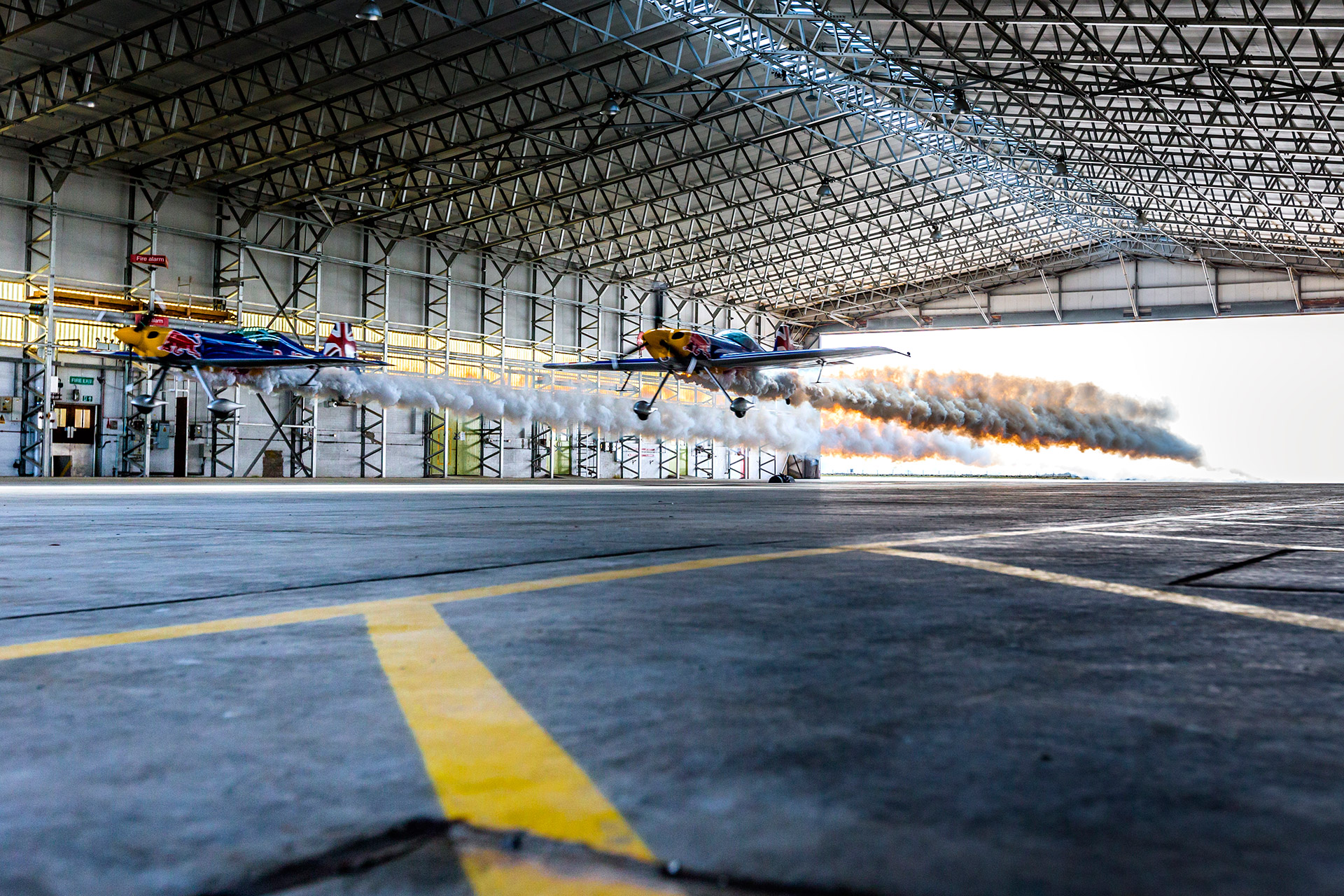 Formation Hangar Fly-Through