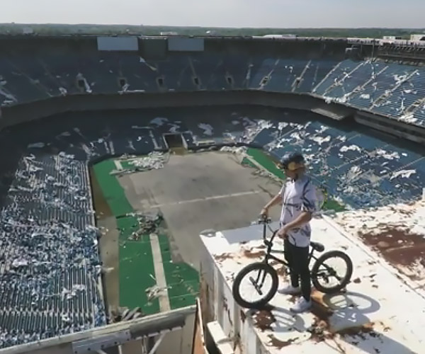 Abandoned Silverdome BMX Ride