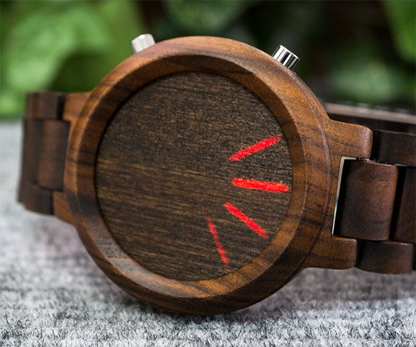 Blade Wood Link Watch
