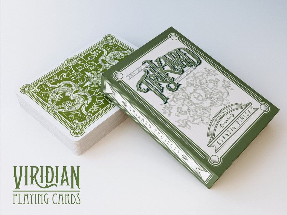 TriKard Viridian Playing Cards