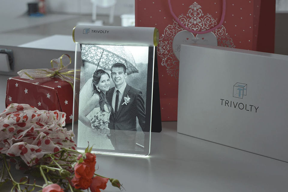 Trivolty Laser Engraved Photo Frame