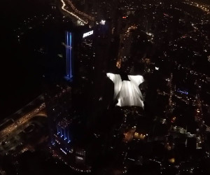 Glowing Wingsuit Flight
