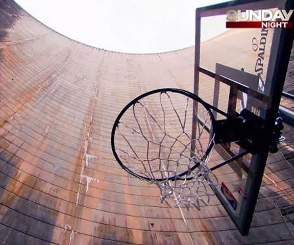 World's Highest Basketball Shot