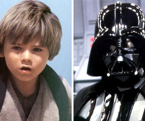 Young Anakin as Darth Vader