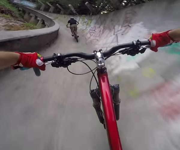 Bikes on a Bobsled Track