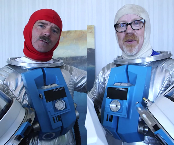 Hadfield & Savage as Astronauts