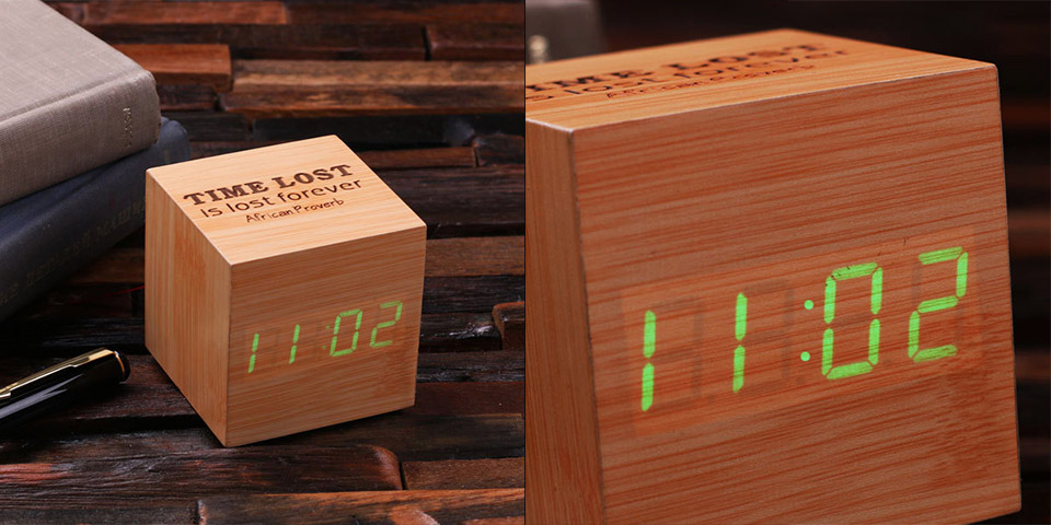 Engraved Digital Alarm Clock
