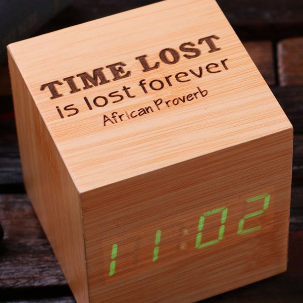 Engraved Digital Alarm Clock