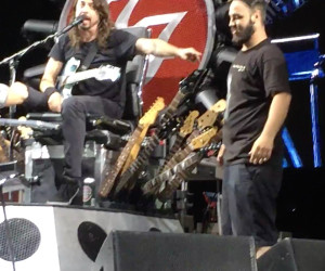 Fan Plays Drums for Foo Fighters