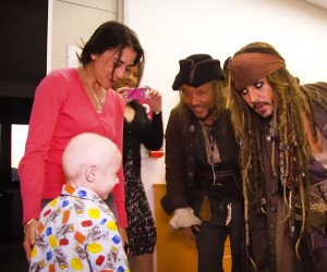 Jack Sparrow Visits a Kids' Hospital
