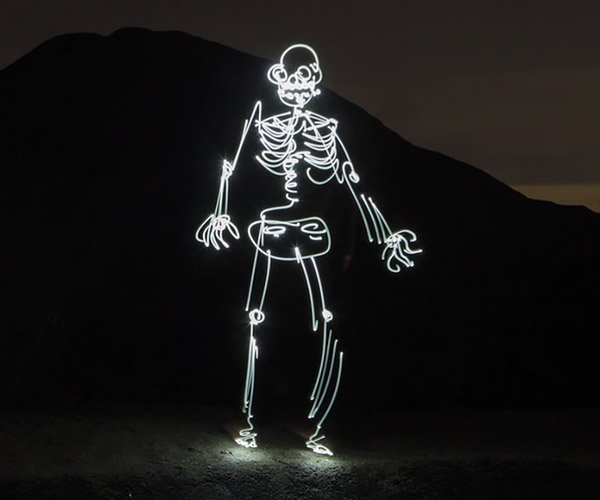How to Light-Paint a Skeleton