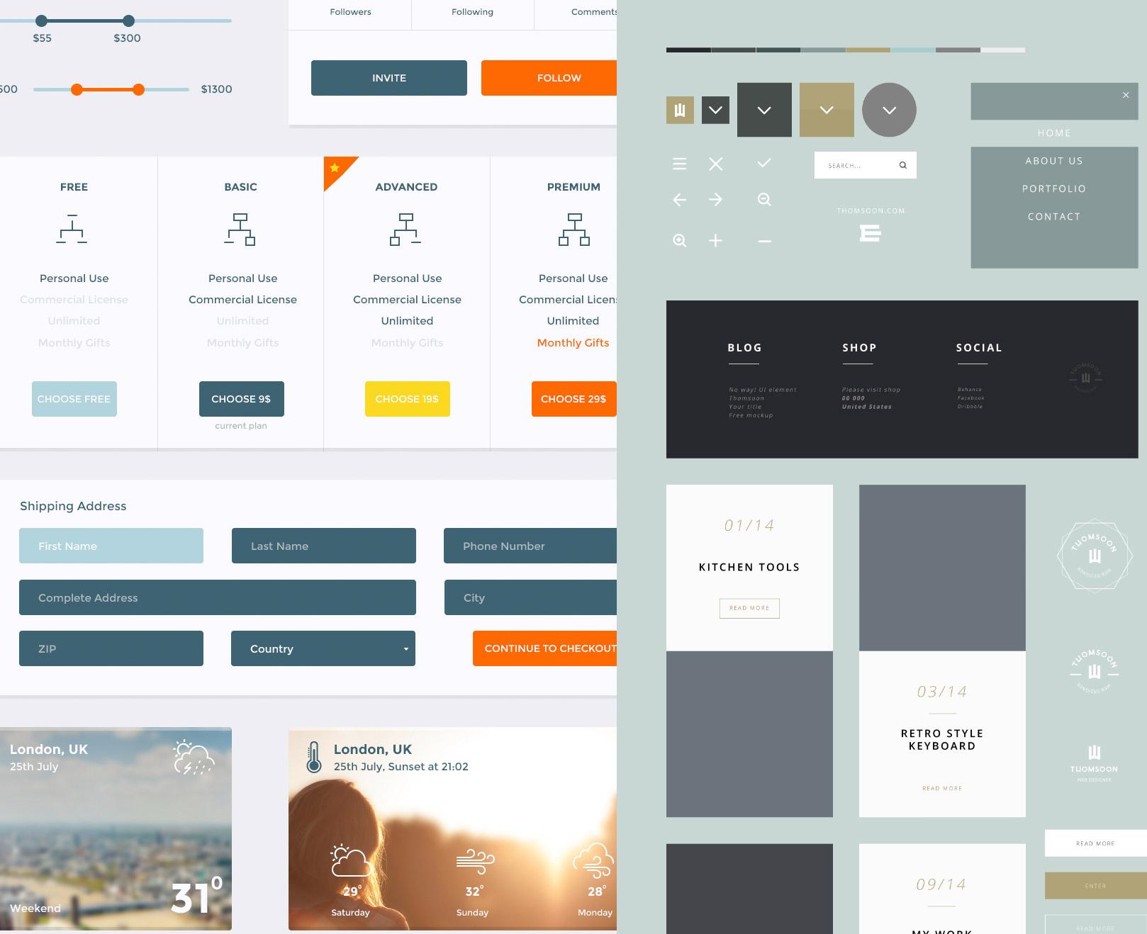 Freebie: PSDFest Design Bundle