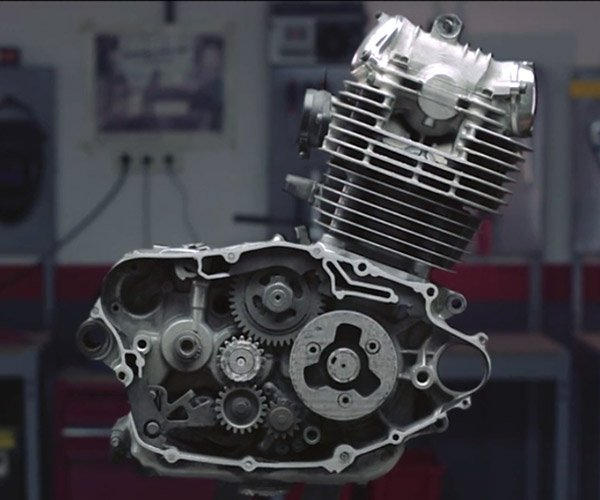 Grinding Away a Motorcycle Engine