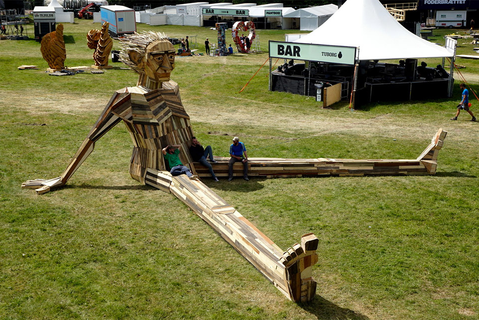 Scrap Wood Creature Sculptures